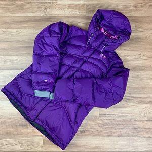 Mountain Hardwear down parka, purple, sz M